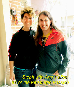 Amy Fallon and Steph in San Carlos, CA.