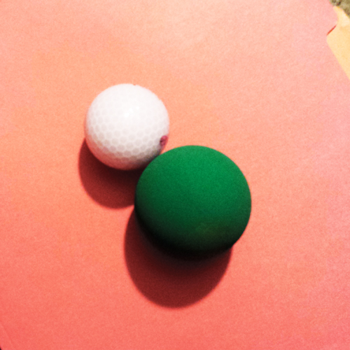 golf ball and racquet ball